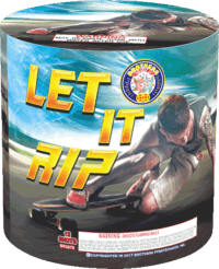 Let It Rip - 12 Shots - 200 Gram Aerials - Fireworks