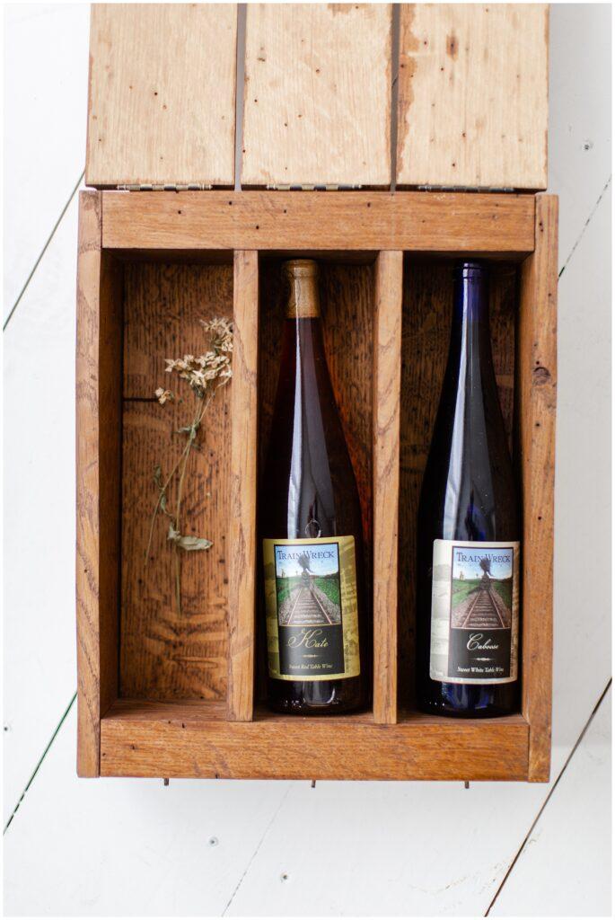 10 Year Anniversary Photo Session | Anniversary Gift Ideas | Wine Box | Iowa Wedding Photographer | CB Studio