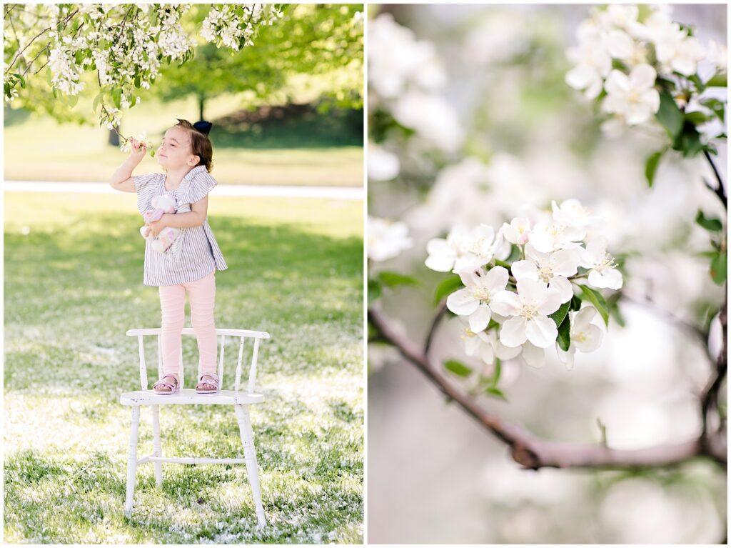 Children Spring Blossom Session | Iowa Children Photographer | CB Studio
