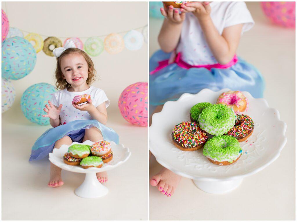 Donut Cake Smash Session | Iowa Children Photographer | CB Studio