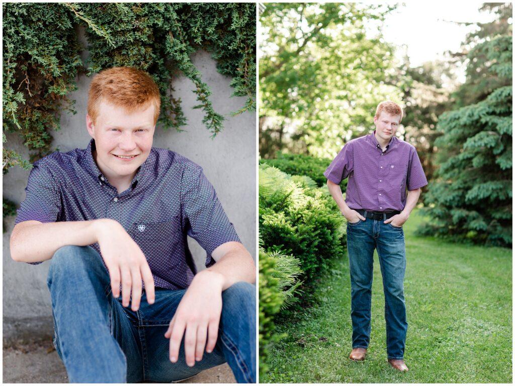 Farm themed senior session | Iowa Senior Photographer | CB Studio