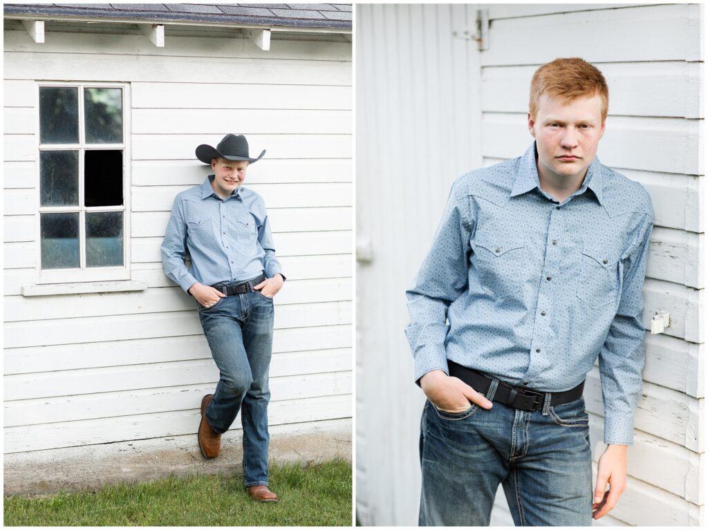 Farm themed senior session | Farm senior session | Iowa Senior Photographer | CB Studio