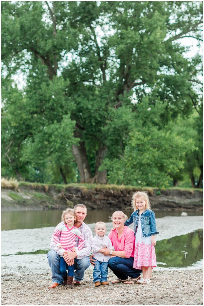 Family photography by a river   Iowa Family Photographer   CB Studio