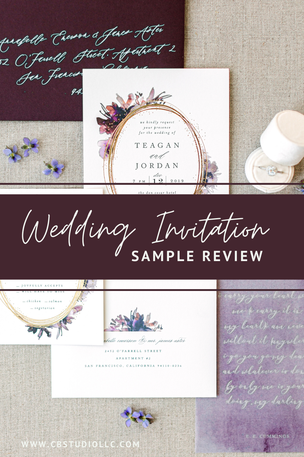 Wedding Invitation Sample Review