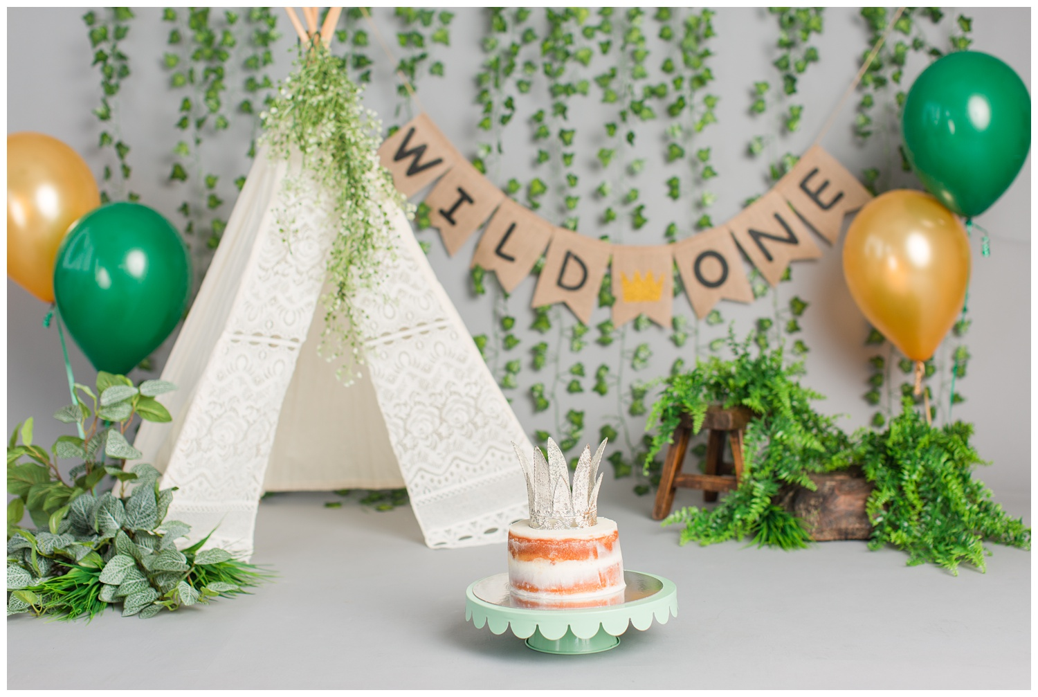 Wild One Where the Wild Things Are themed cake smash photography | CB Studio