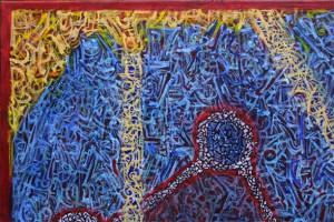 "detail ""Nexus"" by Pak Nichols acrylic on canvas 24"" x 18"" unframed $600 #9381"
