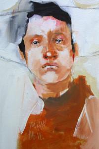 "detail ""Range Portrait I"" acrylic on canvas 14"" x 11"" in frame $650 #11341"