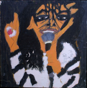 """Michael Jackson/ Stephanie Mills""  1992  (double sided)  by Artist Chuckie Williams  24"" x 24""  $700  (10067)"