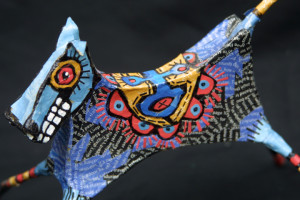 """detail """"Dancing Horse"""" by Renne Ensley  Mixed media, papier mache & found objects  5.5"""" x 6.5"""" x 10""""   $198   #11054"""