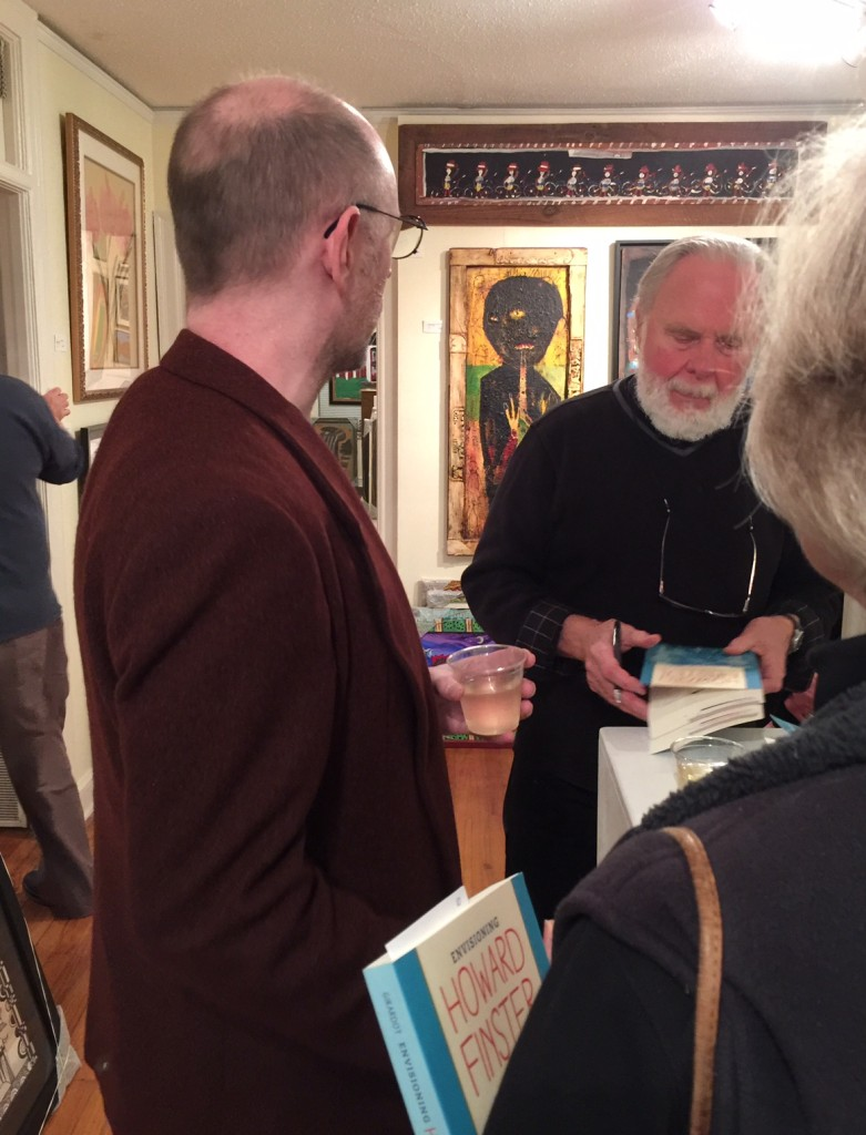 Norman Girardot signs his new book, Envisioning Howard Finster at Marcia Weber Art Objects
