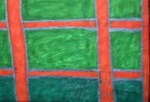 "detail Untitled  (Wagon)  c. 2005 by Brenda Davis  mixed media on paper  24"" x 18""  unframed  $850  (11530)"