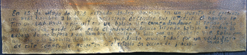 """inscription Ex-voto; """"Gratitude For Health After Dangerous Illness"""" dated January 5, 1931 by anonymous Mexican artist oil paint on tin with ink 7.5"""" x 10"""" $525 #11763"""