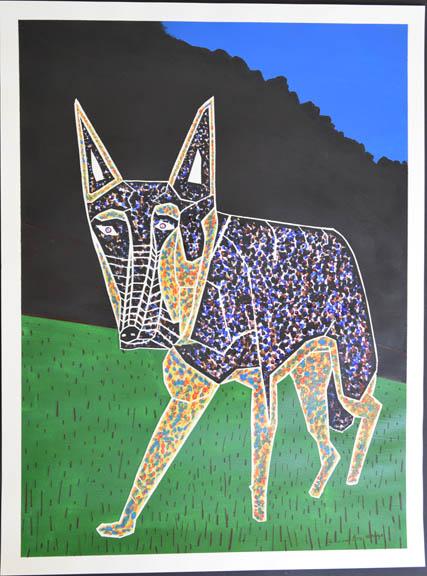 Doberman watercolor