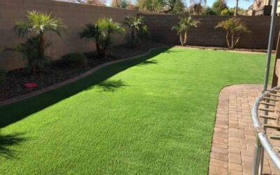 Synthetic turf landscaping makes winter lawns a breeze, no reseeding, no water, no maintenance