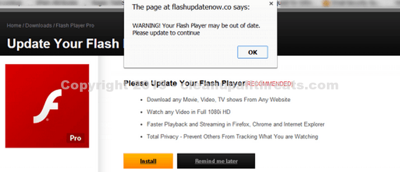 Research – Remove Adobe Flash Player is out of date Scam