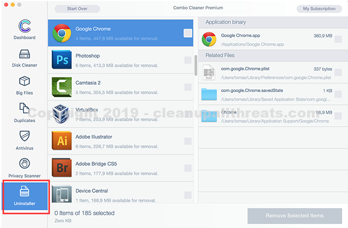 Advanced Mac Cleaner uninstaller for mac