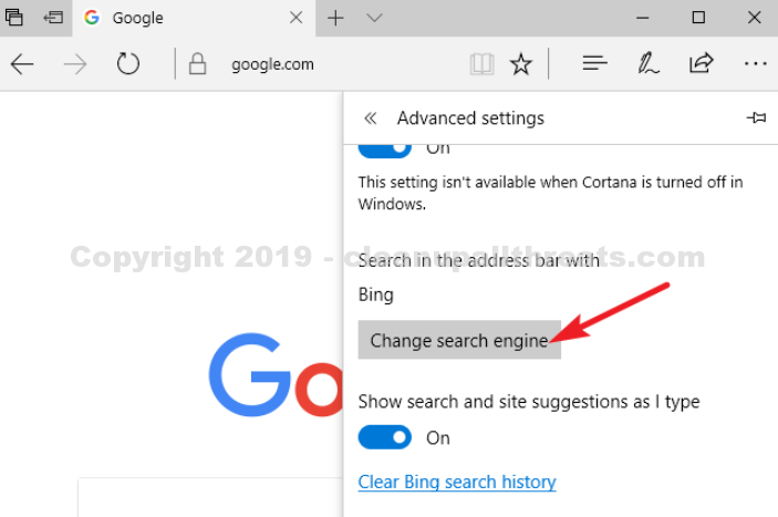 eliminate search-7.com from edge