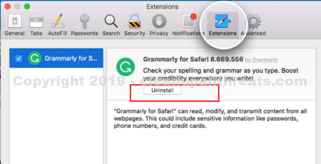 uninstall Window Group Virus from safari