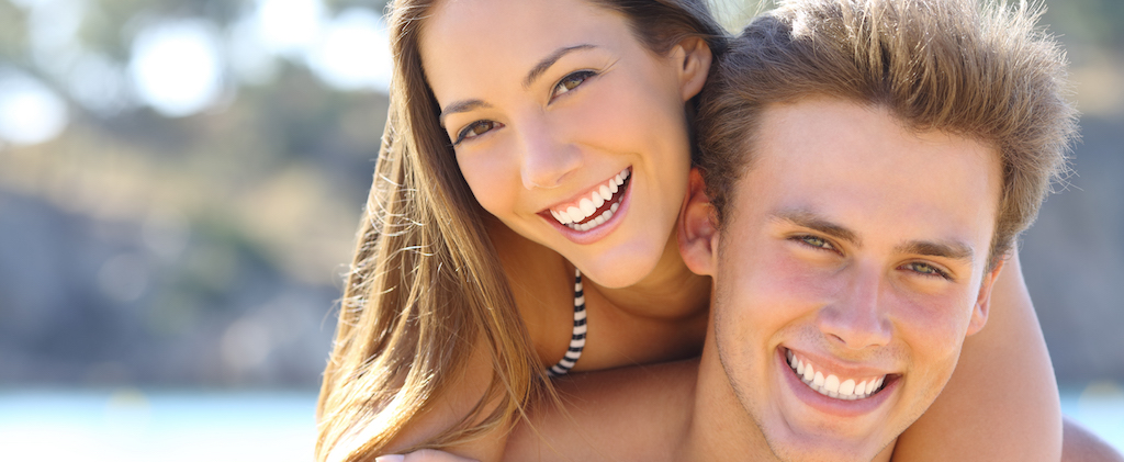 Couple with perfect smile