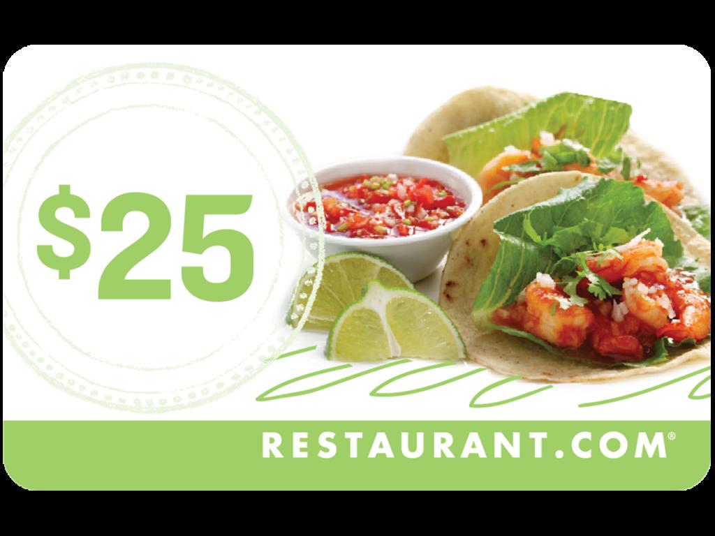 $25 Restaurant Gift Card