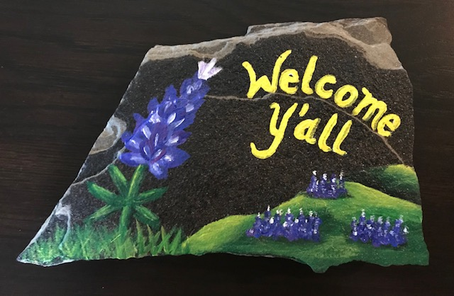 BLUEBONNETS WELCOME STONE