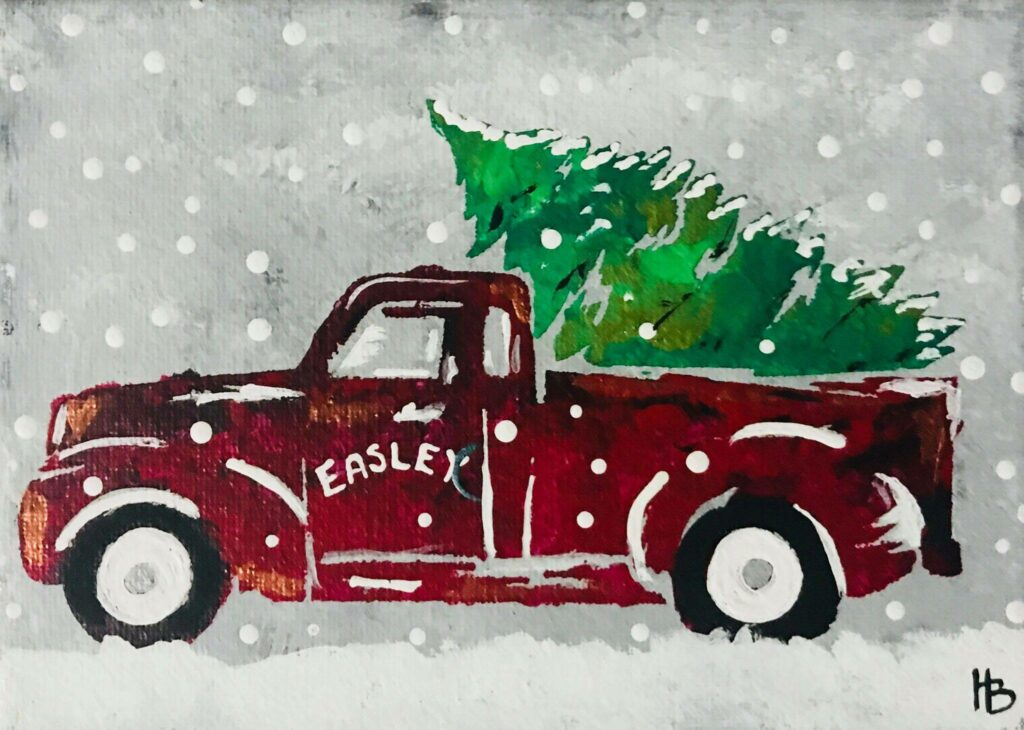 CHRISTMAS TRUCK & TREE