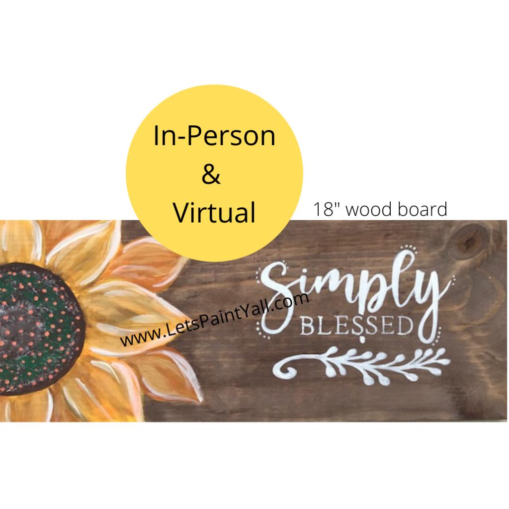 SUNFLOWER - Wood Board