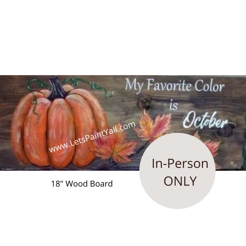 PUMPKIN - Wood Board