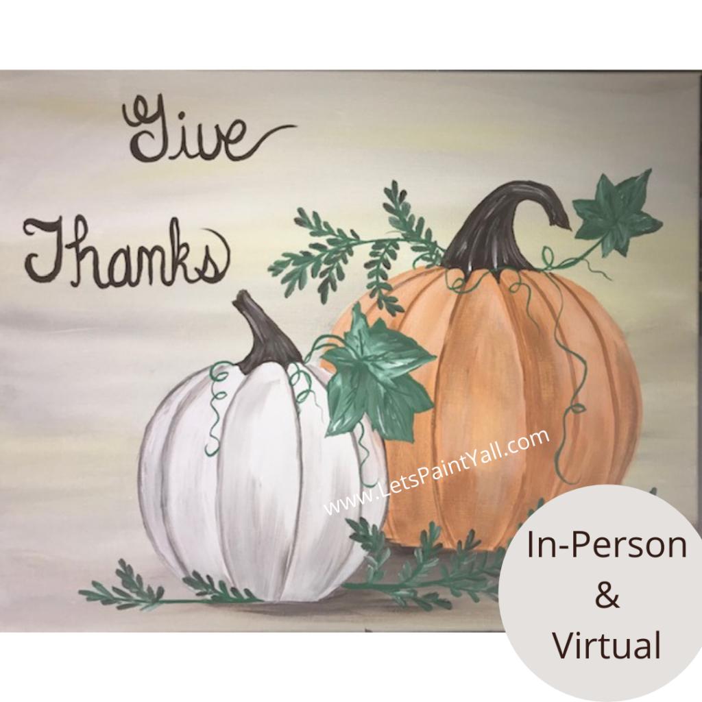 GIVE THANKS - PUMPKINS
