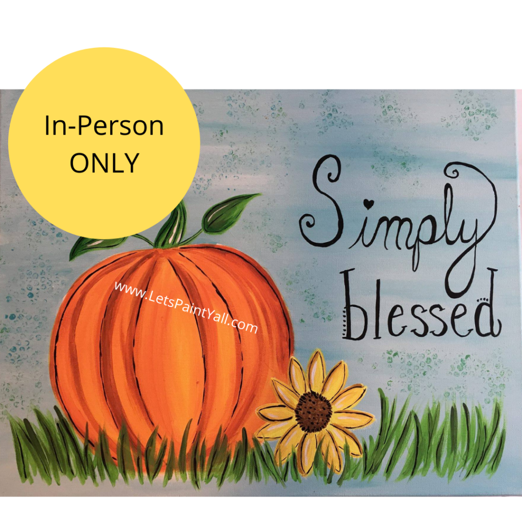 SIMPLY BLESSED PUMPKIN