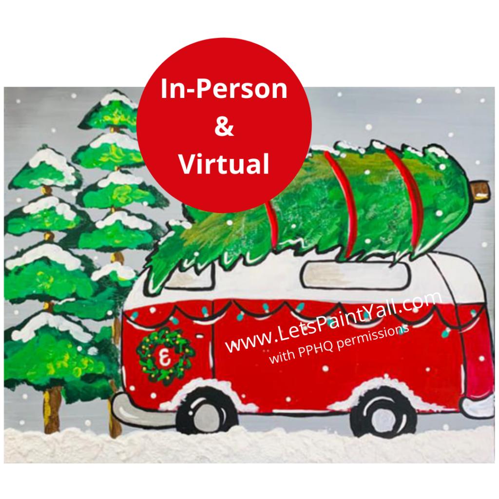 CHRISTMAS VINTAGE VW VAN