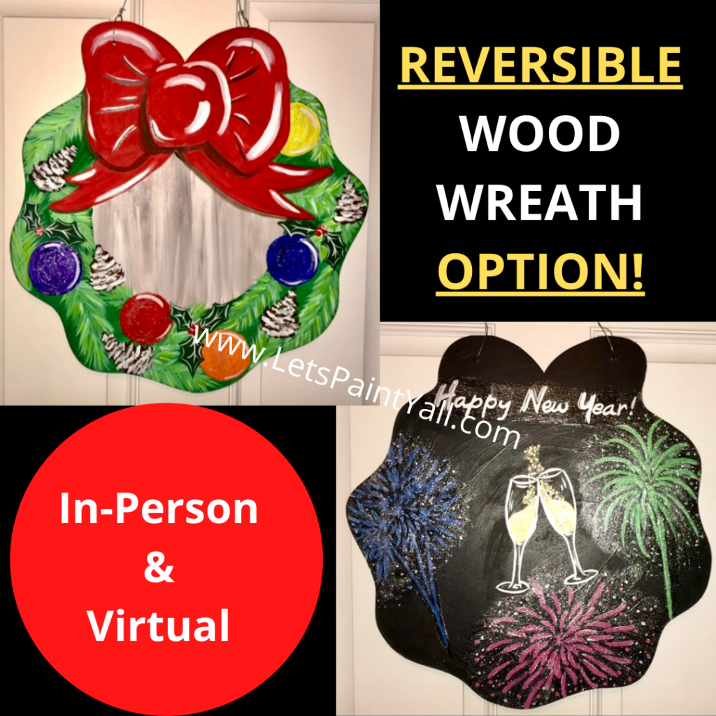REVERSIBLE WREATH - Wood