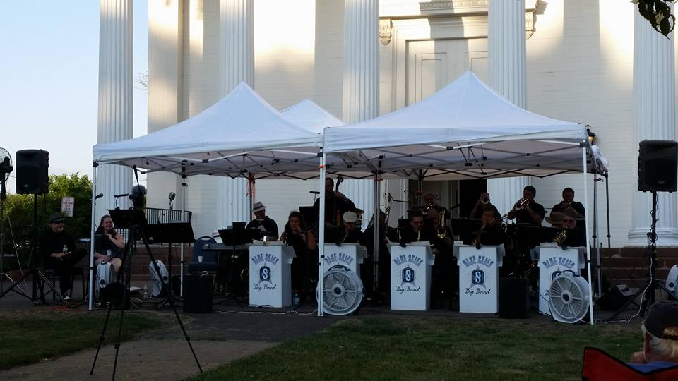 Concert: September 5th, Blue Skies Big Band, on the front lawn