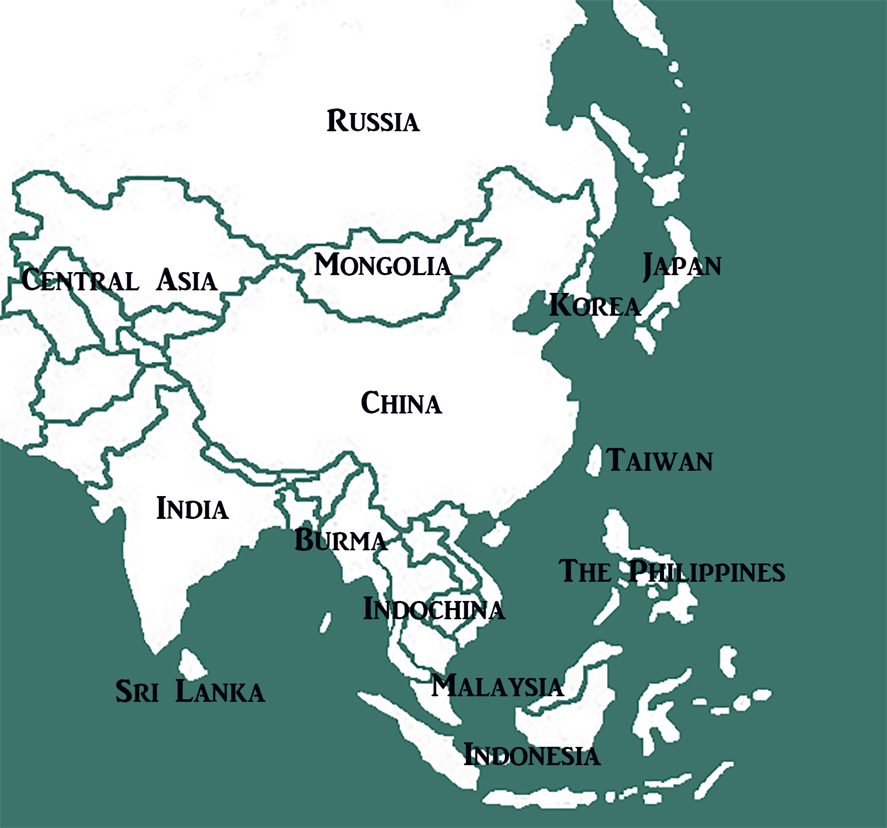 east asia map final