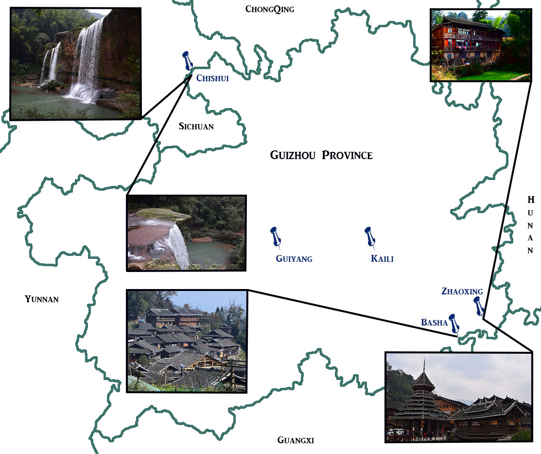 guizhou map with pictures finished