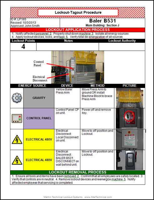 lockout tagout placard service