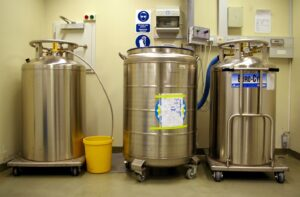 An example photo of industrial liquid nitrogen cannisters