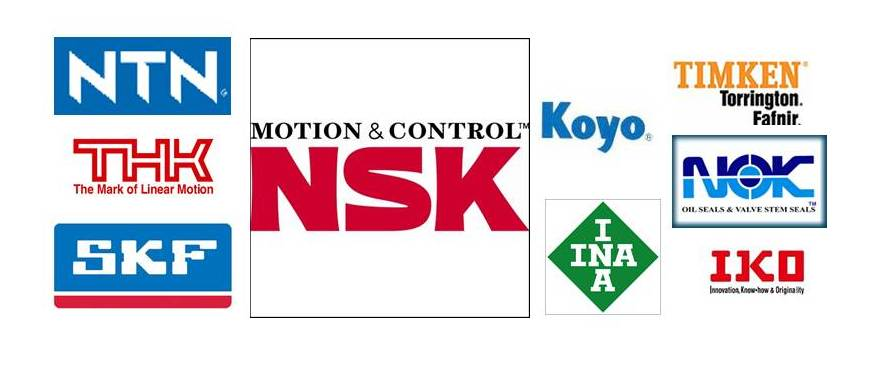 NSK Bearings THK Linear Motion Systems Koyo Fafnir NTN SKF