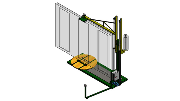 Stretch wrapping equipment