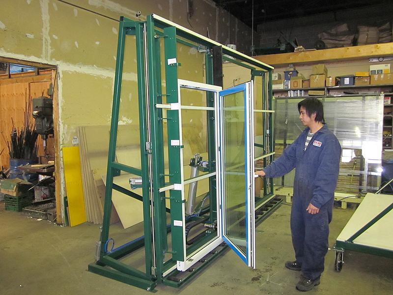 Glazing Rack with 90 degree tilt