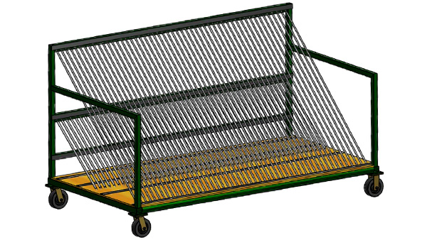 Harp Type Dolly for Insulated Glass