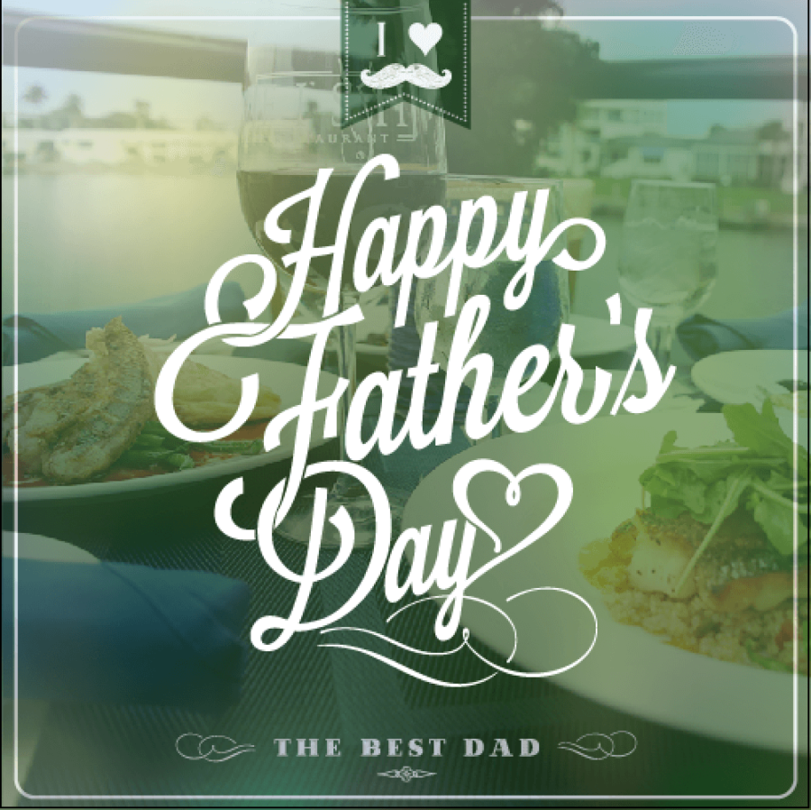 TREAT DAD TO DINNER WITH A WATERFRONT VIEW! Happy Father's Day!