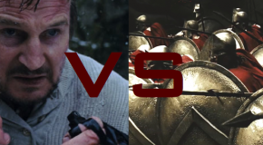 Liam Neeson vs the 300 Spartans. How long will the Spartans last before they all die?