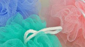 Loofa, washcloth, bath sponge?