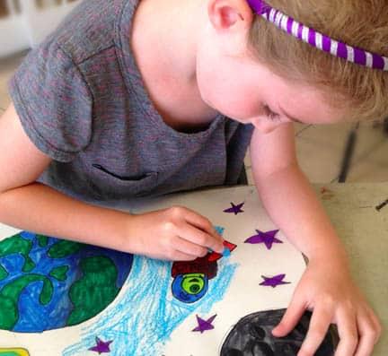 Girl in art camp
