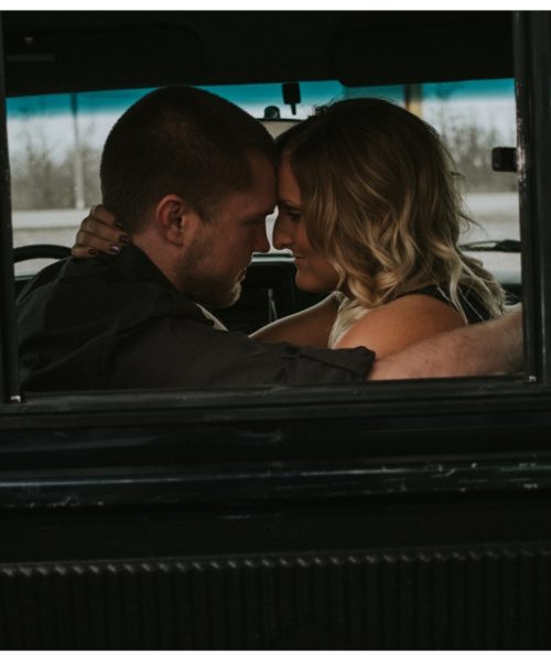 Janesville Engagement Session with a Truck
