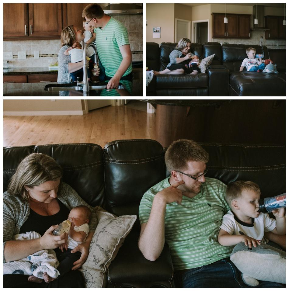 In home newborn session
