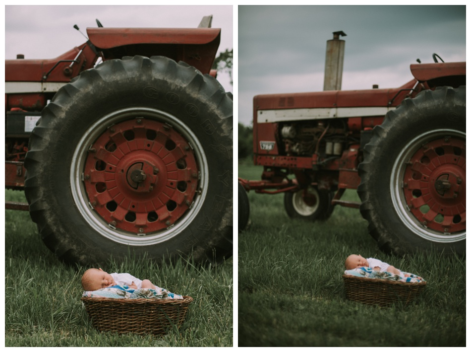 farm newborn photography