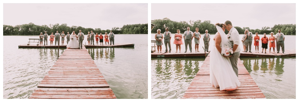 Coral Wedding at Camp Rotemer Janesville Wisconsin