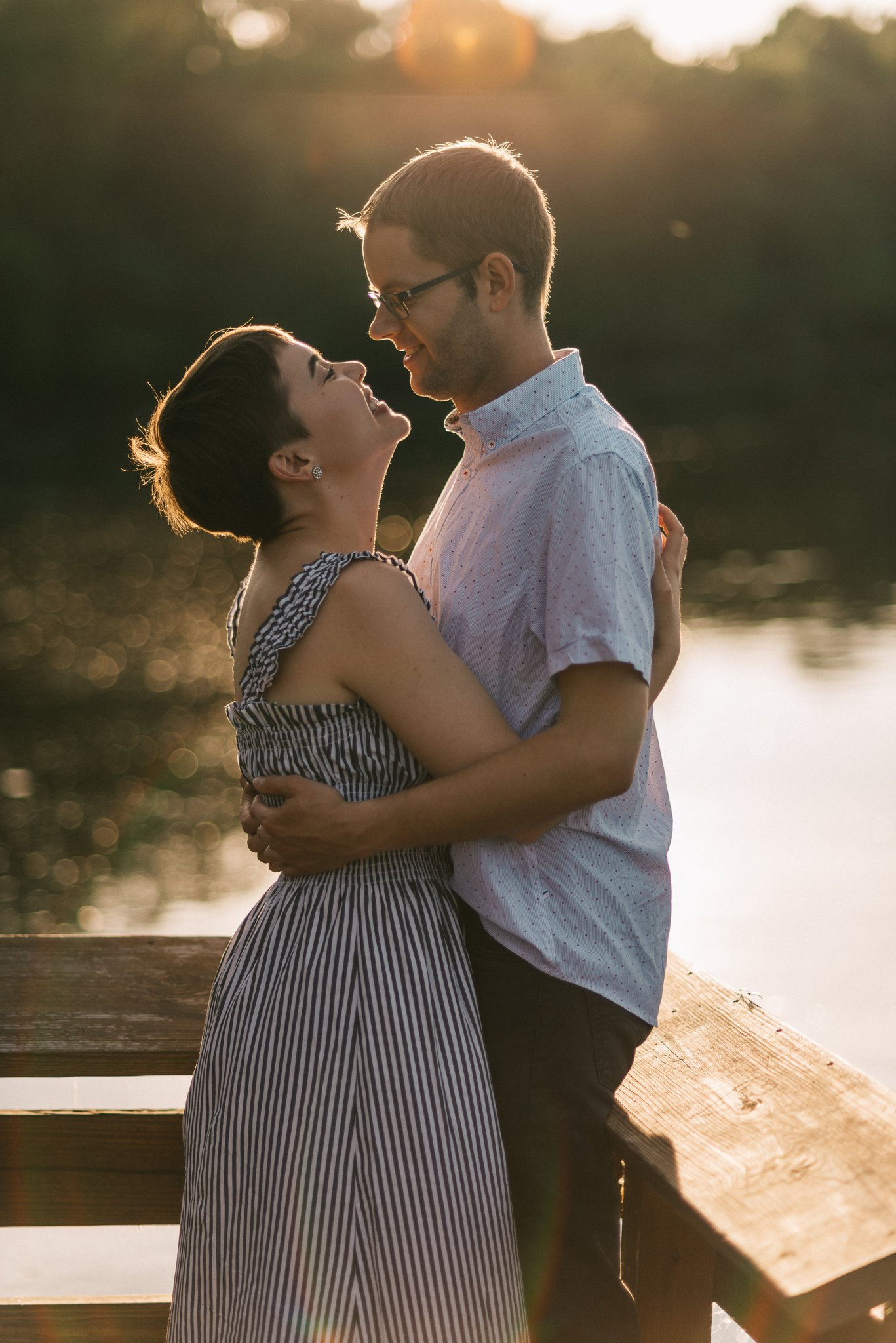 Stoughton Wisconsin Sunset Engagement